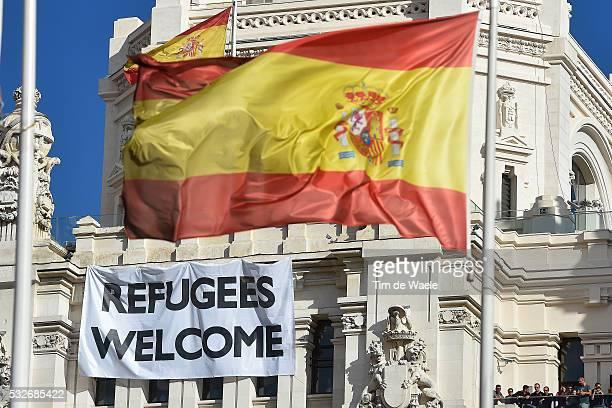 70th Tour of Spain 2015 / Stage 21 Illustration Illustratie / MADRID City ville Landscape Paysage Landschap / Spanish Flag/ Alcala de Henares Madrid...