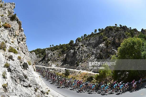 70th Tour of Spain 2015 / Stage 7 Illustration Illustratie/ Peloton Peleton/ Landscape Paysage/ Dam/ Mountains Montagnes Bergen/ Jodar-La Alpujarra /...