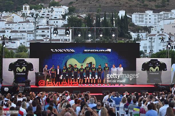 70th Tour of Spain 2015 / Team Presentation Team MOVISTAR / VALVERDE BELMONTE Alejandro / AMADOR BAKKAZAKOVA Andrey / ERVITI OLLO Imanol / MORENO...