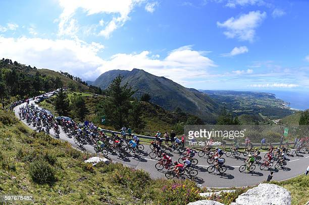 71st Tour of Spain 2016 / Stage 10 Illustration / Landscape / Peloton / Mountains / CANTABRICO Sea/ Alto Mirador del Fito 575m/ Lugones Lagos de...