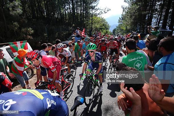 71st Tour of Spain 2016 / Stage 12 Alberto LOSADA / Simon YATES / Alto El Vivero 410m / Fans Public / Peloton / Los Corrales de Buelna - Bilbao / La...