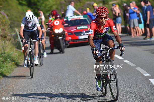 71st Tour of Spain 2016 / Stage 14 Nairo QUINTANA Red Leader Jersey / Christopher FROOME White Combination Jersey / Urdax Dantxarinea Col Aubisque...