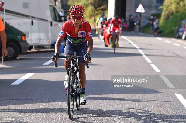 71st Tour of Spain 2016 / Stage 14 Nairo QUINTANA Red Leader Jersey / Urdax Dantxarinea Col Aubisque Gourette 1710m / La Vuelta /