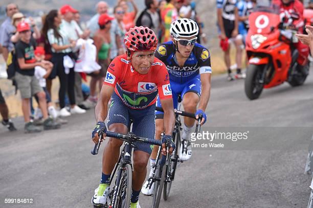 71st Tour of Spain 2016 / Stage 15Illustration / Nairo QUINTANA Red Leader Jersey / David DE LA CRUZ / Alberto CONTADOR / Kenny ELISSONDE Polka Dot...