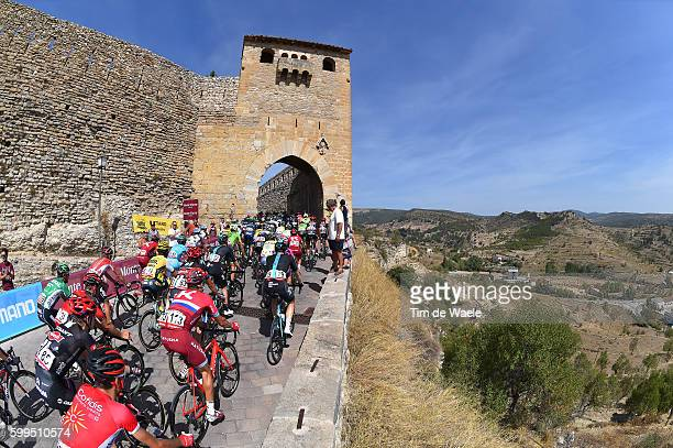 71st Tour of Spain 2016 / Stage 16 Landscape / Peloton / Castle / City Wall / ALTO CASTILLO DE MORELLA City 950m / Alcaniz Peniscola / La Vuelta /