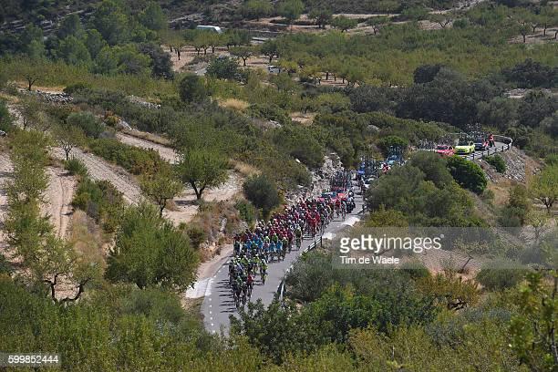 71st Tour of Spain 2016 / Stage 17 Landscape / Peloton / Alto de Sarratella 850m / Castellon - Llucena Camins del Penyagolosa 980m / La Vuelta /