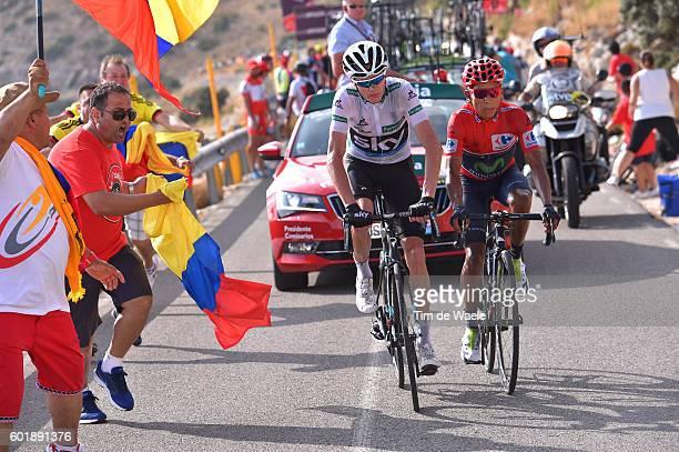 71st Tour of Spain 2016 / Stage 20Nairo QUINTANA Red Leader Jersey/ Christopher FROOME White Combination Jersey/ Benidorm Alto De Aitana Escuadron...