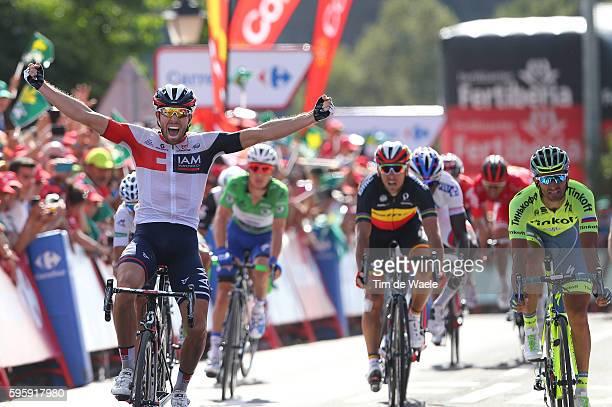 71st Tour of Spain 2016 / Stage 7 Arrival / Jonas VAN GENECHTEN Celebration / Daniele BENNATI / Philippe GILBERT / Gianni MEERSMAN Green Points...