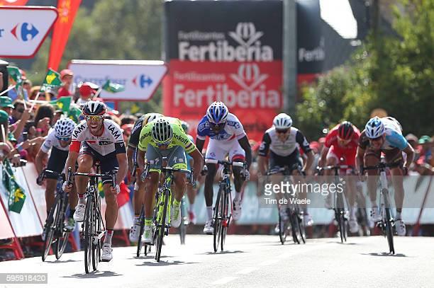 71st Tour of Spain 2016 / Stage 7 Arrival Sprint / Jonas VAN GENECHTEN / Daniele BENNATI / Philippe GILBERT / Gianni MEERSMAN Green Points Jersey /...