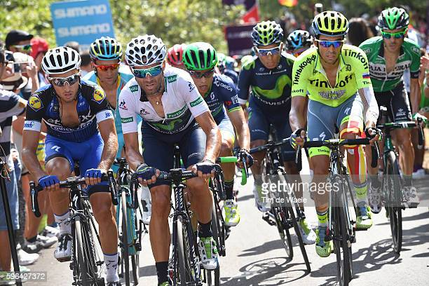 71st Tour of Spain 2016 / Stage 8 Gianluca BRAMBILLA / Alejandro VALVERDE White Combination Jersey / Alberto CONTADOR / Johan Esteban CHAVES RUBIO /...