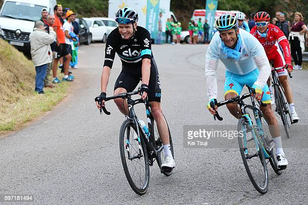 71st Tour of Spain 2016 / Stage 9 Christopher FROOME Descending with whistle / Safety Security / Michele SCARPONI / Cistierna Oviedo Alto del Naranco...