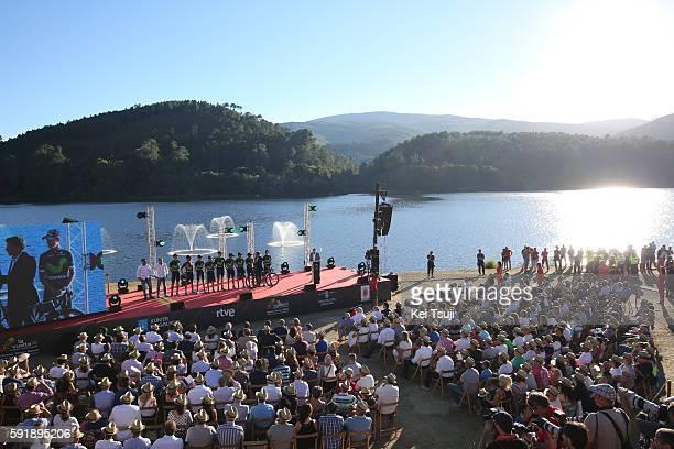 71st Tour of Spain 2016 / Team Presentation Podium / Team Movistar / Alejandro VALVERDE / Jonathan CASTROVIEJO / Imanol ERVITI OLLO / Ruben FERNANDEZ...