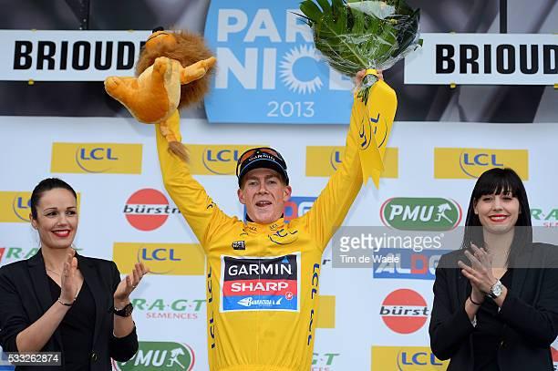 71th Paris - Nice 2013 / Stage 3 Podium / TALANSKY Andrew Yellow Jersey / Celebration Joie Vreugde / Chatel-Guyon - Brioude / Etape Rit /Tim De Waele