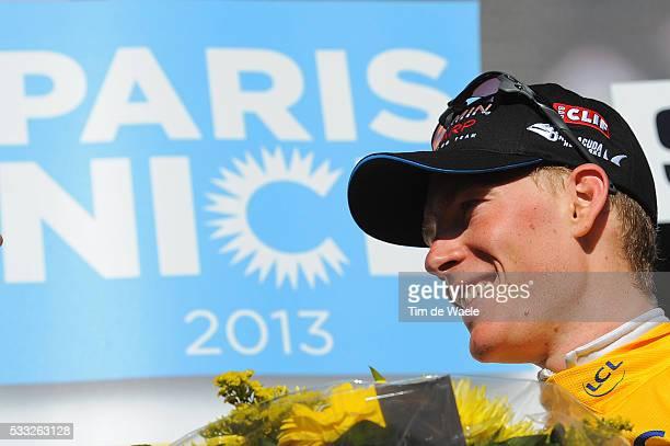 71th Paris - Nice 2013 / Stage 4 Podium / TALANSKY Andrew Yellow Jersey Celebration Joie Vreugde / Brioude - Saint-Vallier / Etape Rit /Tim De Waele