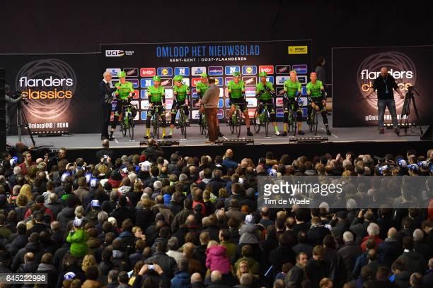 72nd Omloop Het Nieuwsblad 2017 / Men Start / Podium / Team CannondaleDrapac Pro Cycling Team / Sep VANMARCKE / Tom VAN ASBROECK / Sebastian...