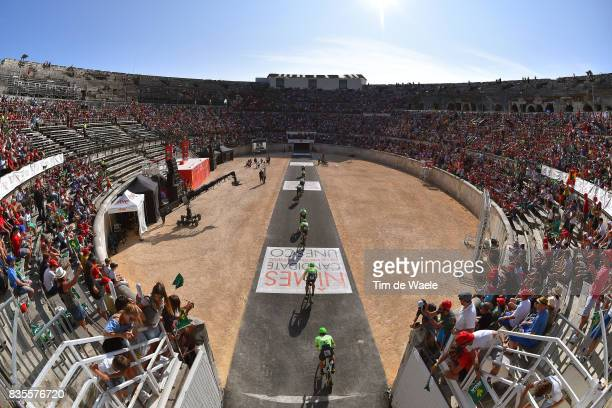 72nd Tour of Spain 2017 / Stage 1 Team Cannondale Drapac Pro C T / Michael WOODS / Brendan CANTY / Simon CLARKE / Joe DOMBROWSKI / Thomas SCULLY /...