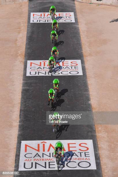 72nd Tour of Spain 2017 / Stage 1 Team CannondaleDrapac Pro Cycling Team / Michael WOODS / Brendan CANTY / Simon CLARKE / Joe DOMBROWSKI / Thomas...