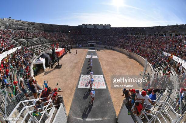 72nd Tour of Spain 2017 / Stage 1 Team FDJ / Arnaud COURTEILLE / Marc FOURNIER / Daniel HOELGAARD / Johan LE BON / Tobias LUDVIGSSON / Jeremy MAISON...
