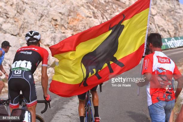 72nd Tour of Spain 2017 / Stage 14 Alberto CONTADOR / Public / Fans / Spanish Flag / Ecija - Sierra de La Pandera 1830m / La Vuelta /
