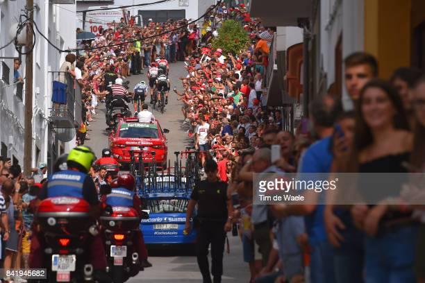72nd Tour of Spain 2017 / Stage 14 Rui FARIA DA COSTA / Rafal MAJKA / Davide VILLELLA Polka Dot Mountain Jersey / Bart DE CLERCQ / Valdepenas de Jaen...