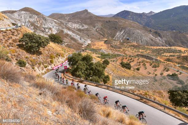 72nd Tour of Spain 2017 / Stage 15 Hernan AGUIRRE / Gianni MOSCON / Salvatore PUCCIO / Christopher FROOME Red Leader Jersey / Fabio ARU / Vincenzo...