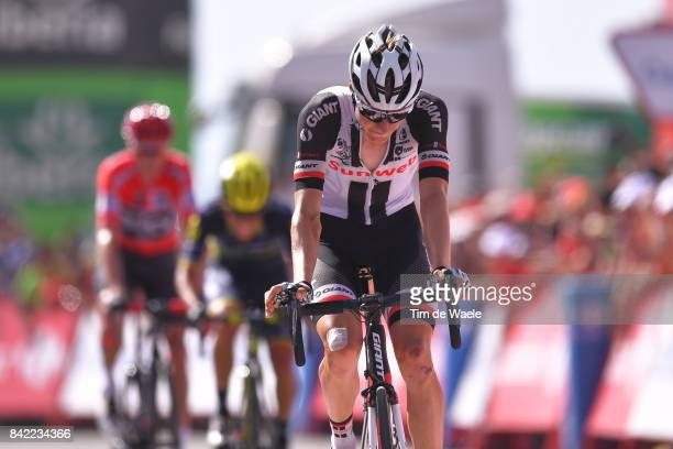 72nd Tour of Spain 2017 / Stage 15 Arrival / Wilco KELDERMAN / Christopher FROOME Red Leader Jersey / Johan Esteban CHAVES / Alcala la Real Sierra...