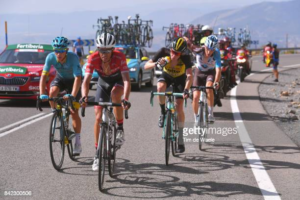 72nd Tour of Spain 2017 / Stage 15Christopher FROOME Red Leader Jersey / Fabio ARU / Vincenzo NIBALI White Combined Jersey / Alcala la Real Sierra...