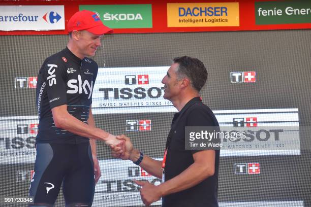 72Nd Tour Of Spain 2017 Stage 16Podium Christopher Froome / Celebration Miguel Indurain / Circuito De Navarra Logrono Individual Time Trial Itt La...