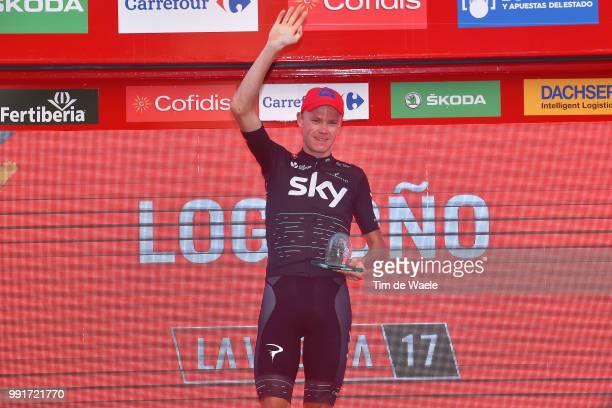 72Nd Tour Of Spain 2017 Stage 16Podium Christopher Froome / Celebration Trophy Circuito De Navarra Logrono Individual Time Trial Itt La Vuelta