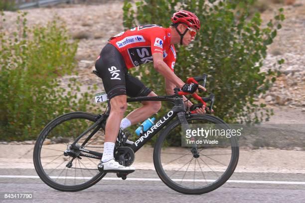 72nd Tour of Spain 2017 / Stage 17 Christopher FROOME Red Leader Jersey / Villadiego Los Machucos Monumento Vaca PasiegaAlto de los Machucos 880m /...
