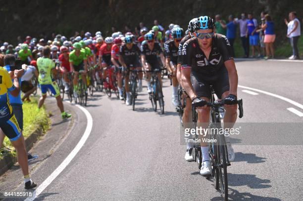 72nd Tour of Spain 2017 / Stage 19 Ian STANNARD / Peloton / Caso Parque Natural de Redes Gijon / La Vuelta /