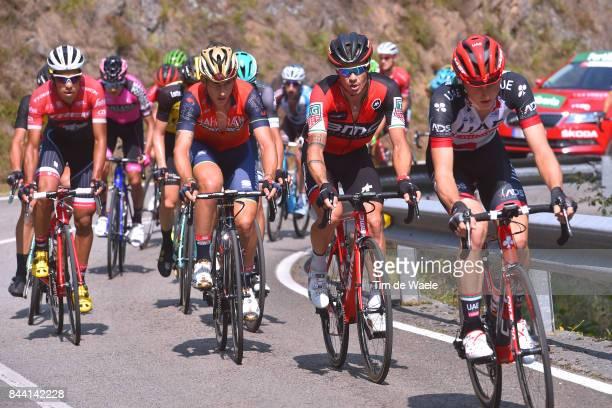 72nd Tour of Spain 2017 / Stage 19 Matej MOHORIC / Nicolas ROCHE / Ivan GARCIA CORTINA / Jarlinson PANTANO / Caso Parque Natural de Redes Gijon / La...