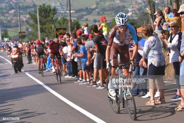 72nd Tour of Spain 2017 / Stage 19 Romain BARDET / Nicolas ROCHE / Rui FARIA DA COSTA / Caso Parque Natural de Redes Gijon / La Vuelta /
