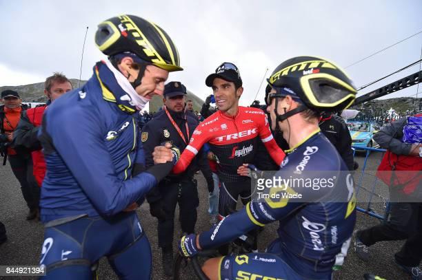 72nd Tour of Spain 2017 / Stage 20 Arrival / Adam YATES / Simon YATES / Alberto CONTADOR / Celebration / Corvera de Asturias Alto de L'Angliru 1560m...