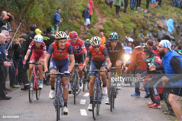 72nd Tour of Spain 2017 / Stage 20 Franco PELLIZOTTI / Vincenzo NIBALI / Ilnur ZAKARIN / Wout POELS / Christopher FROOME Red Leader Jersey / Corvera...