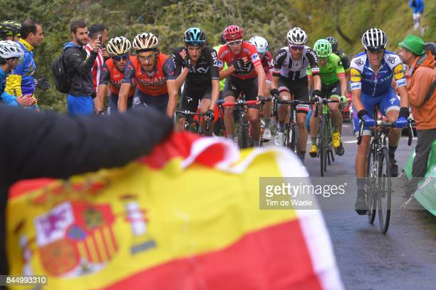 72nd Tour of Spain 2017 / Stage 20 Enric / Franco PELLIZOTTI / Vincenzo NIBALI / Wout POELS / Christopher FROOME Red Leader Jersey / Wilco KELDERMAN...