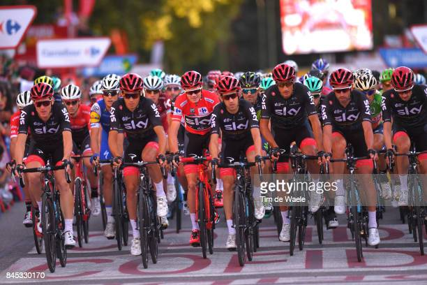 72nd Tour of Spain 2017 / Stage 21 Christopher FROOME Red Leader Jersey / Christian KNEES / Salvatore PUCCIO / David LOPEZ / Gianni MOSCON / Mikel...