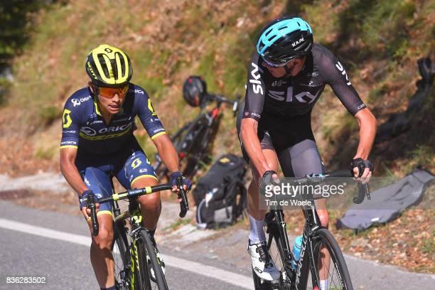 72nd Tour of Spain 2017 / Stage 3 Christopher FROOME / Johan Esteban CHAVES / Prades Conflent Canigo Andorra la Vella / La Vuelta /