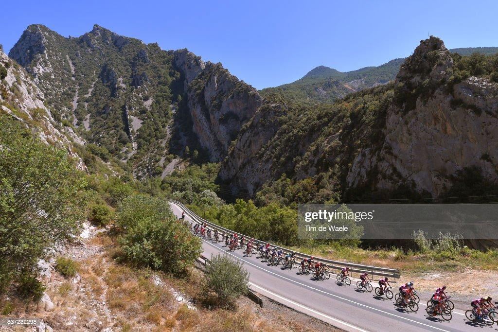 72nd Tour of Spain 2017 / Stage 4 Peloton / Mountains / Landscape / Escaldes-Engordany - Tarragona Anella Mediterranea 2018 (198,2km)/ La Vuelta /