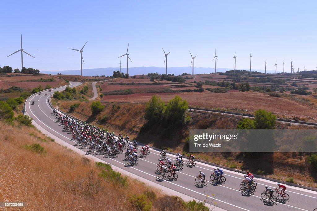72nd Tour of Spain 2017 / Stage 4 Peloton / Wind Mil / Alto de Belltall (790m) Mountains / Landscape / Escaldes-Engordany - Tarragona Anella Mediterranea 2018 (198,2km)/ La Vuelta /
