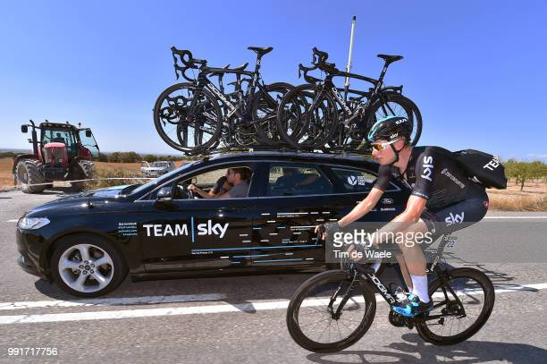 72Nd Tour Of Spain 2017 Stage 4Christian Knees / Nicolas Portal Sportsdirector Team Sky / Bottles Feed Zone EscaldesEngordany Tarragona Anella...