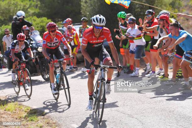 72nd Tour of Spain 2017 / Stage 6 Alberto CONTADOR / Christopher FROOME Red Leader Jersey / Jan POLANC / Vilareal Sagunt / La Vuelta /