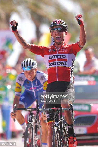 72Nd Tour Of Spain 2017 Stage 6Arrival Tomasz Marczynski Celebration Mas Nicolau Enric / VilaReal Sagunt La Vuelta