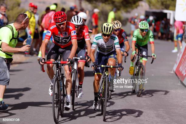72nd Tour of Spain 2017 / Stage 8 Christopher FROOME Red Leader Jersey / Alberto CONTADOR / Johan Esteban CHAVES White Combined Jersey / Vincenzo...