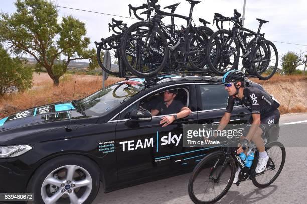 72nd Tour of Spain 2017 / Stage 8 Mikel NIEVE ITURALDE / Nicolas PORTAL Sportsdirector Team Sky / Car / Hellin Xorret de Cati Costa Blanca Interior...