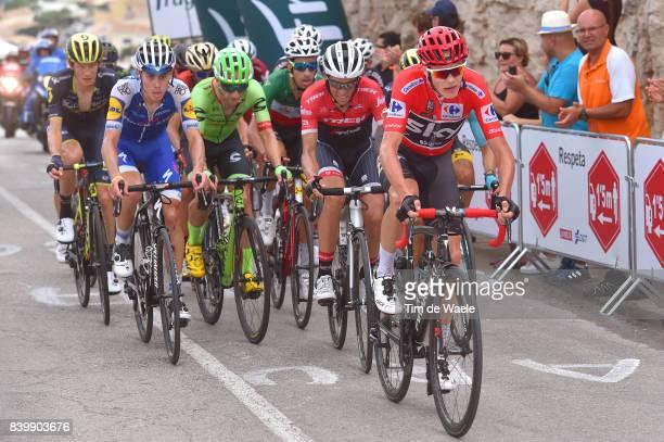 72nd Tour of Spain 2017 / Stage 9 Christopher FROOME Red Leader Jersey / David DE LA CRUZ / Jack HAIG / Alberto CONTADOR / Michael WOODS / Fabio ARU...