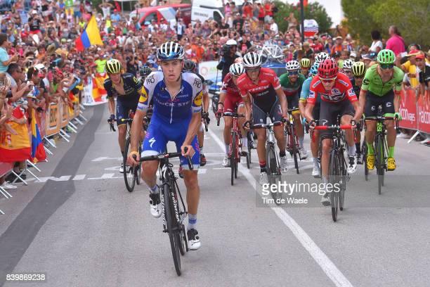 72nd Tour of Spain 2017 / Stage 9 David DE LA CRUZ / Christopher FROOME Red Leader Jersey / Alberto CONTADOR / Michael WOODS / Ilnur ZAKARIN / Fabio...