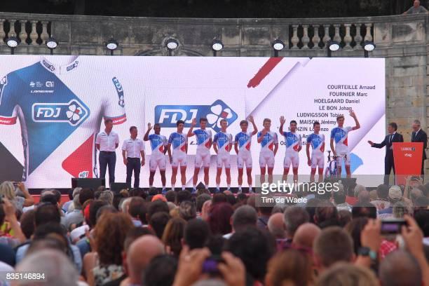 72nd Tour of Spain 2017 / Team Presentation Team FDJ / Arnaud COURTEILLE / Marc FOURNIER / Daniel HOELGAARD / Johan LE BON / Tobias LUDVIGSSON /...