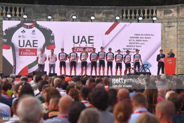 72nd Tour of Spain 2017 / Team Presentation Team UAE Team Emirates / Rui FARIA DA COSTA / John Darwin ATAPUMA / Anass AIT EL ABDIA / Louis MEINTJES /...