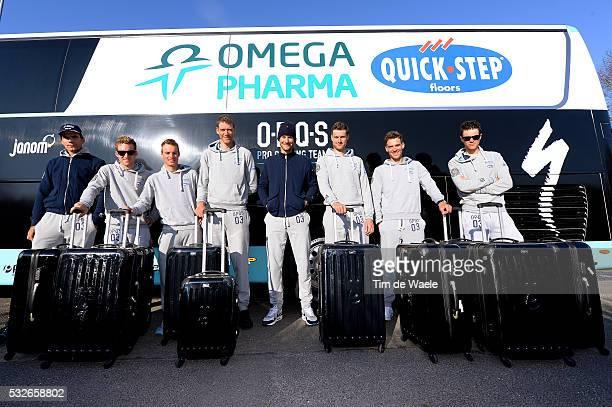 72th Paris Nice 2014 / Stage 2 Illustration Illustratie / Princess Suitcase Valise Koffer / Team Omega Pharma QuickStep OPQS / BOONEN Tom / BAKELANTS...